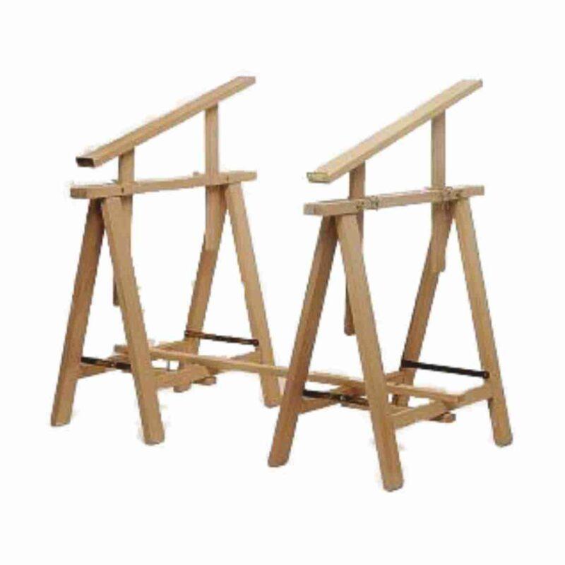 Tréteaux en bois pour artiste